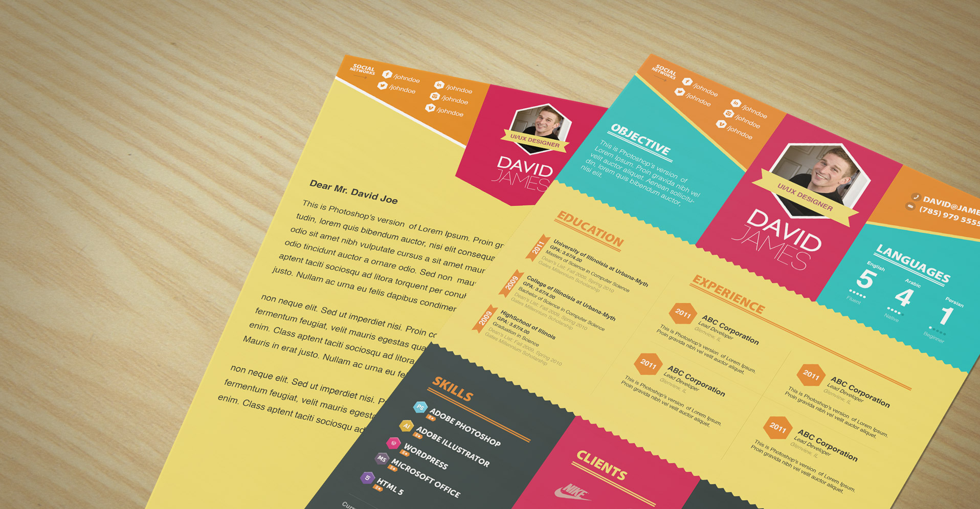 Colorful Stylish Resume