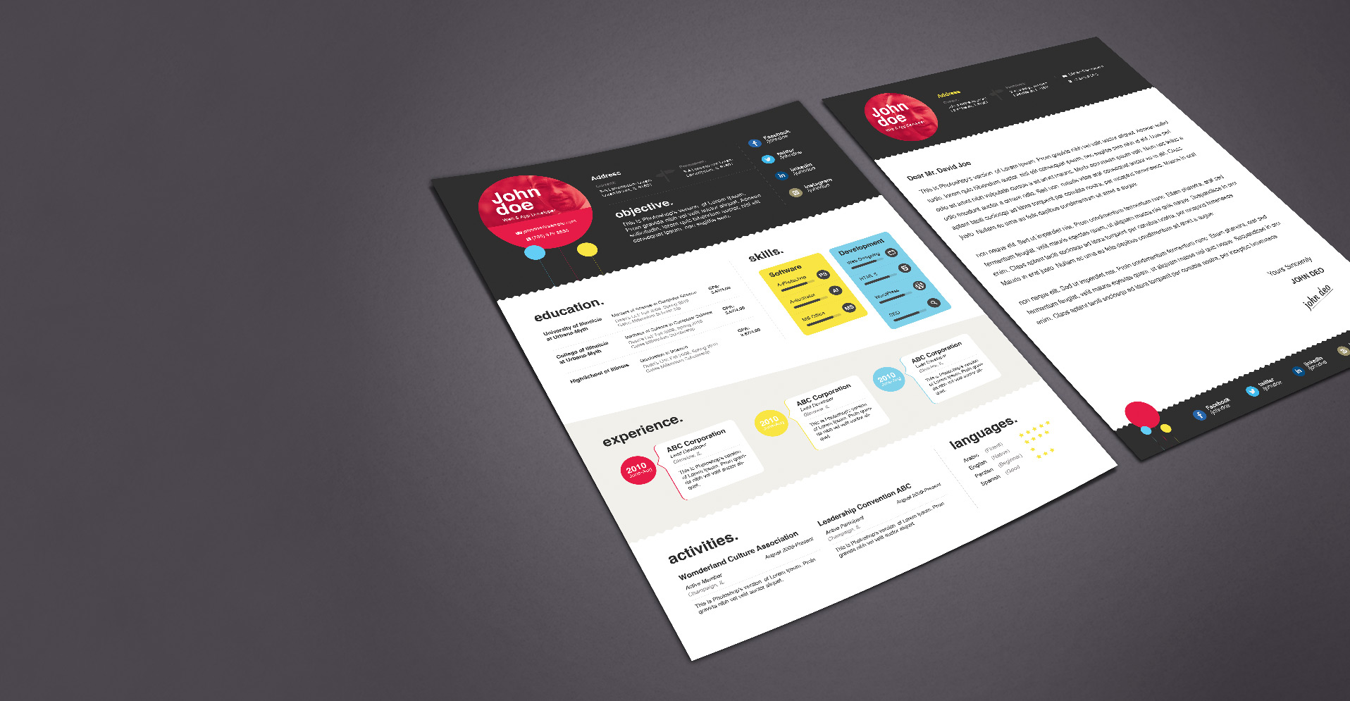 Resume Templates Bundle  Zippypixels