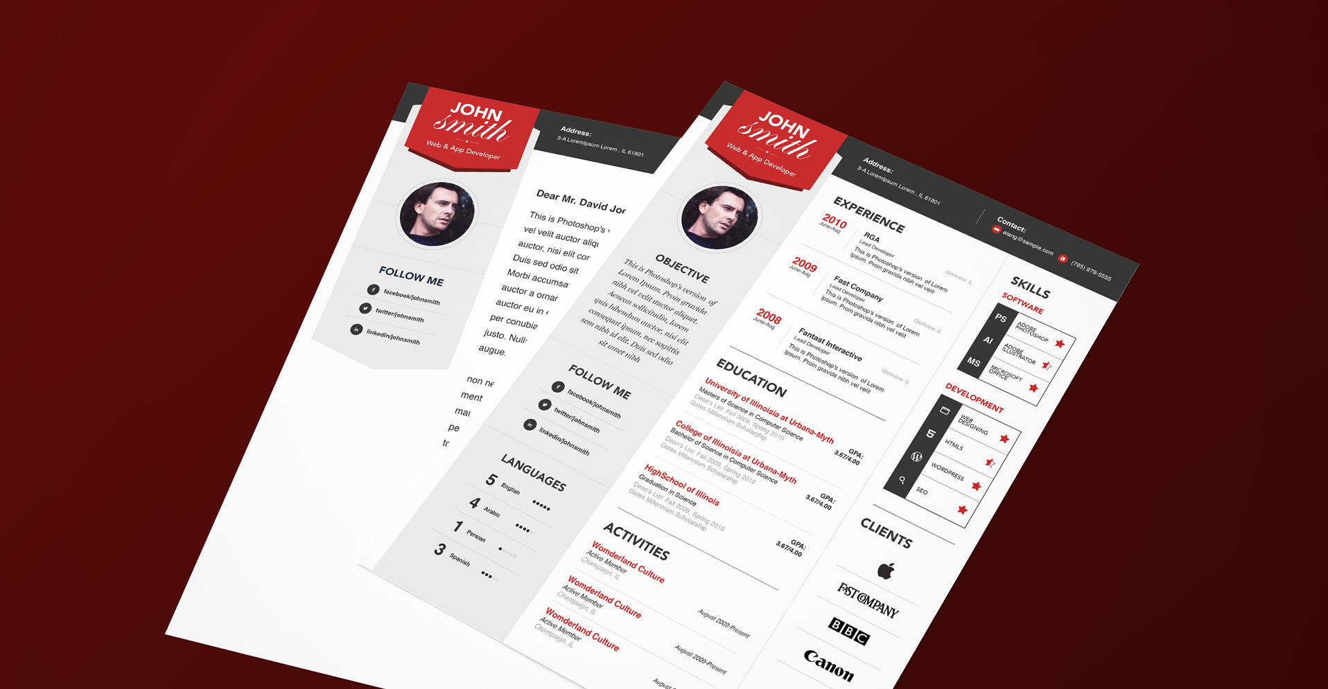 15 resume templates bundle