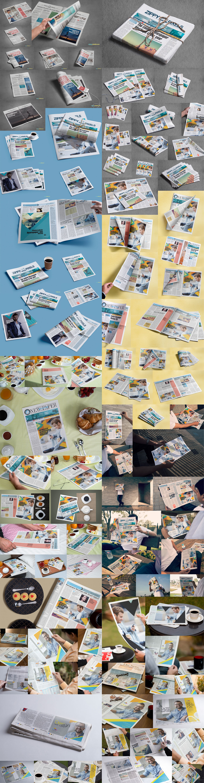 99 NEWSPAPER MOCKUPS BUNDLE