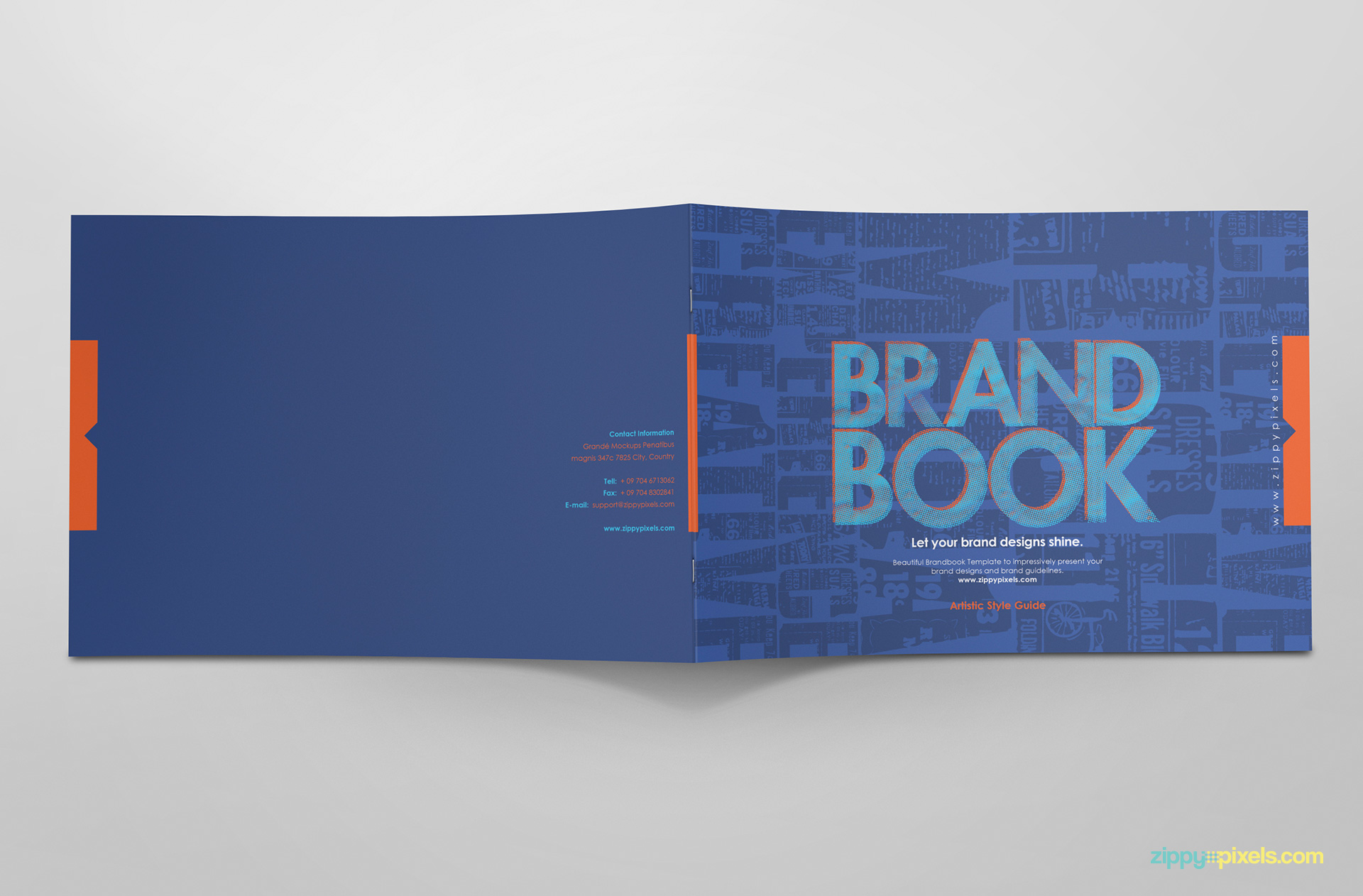 Cool Book Cover Templates ~ Free brand guidelines template brandbooks zippypixels