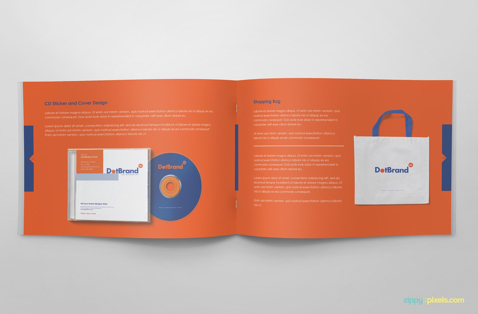 Free Brand Guidelines Template - Brandbooks   ZippyPixels