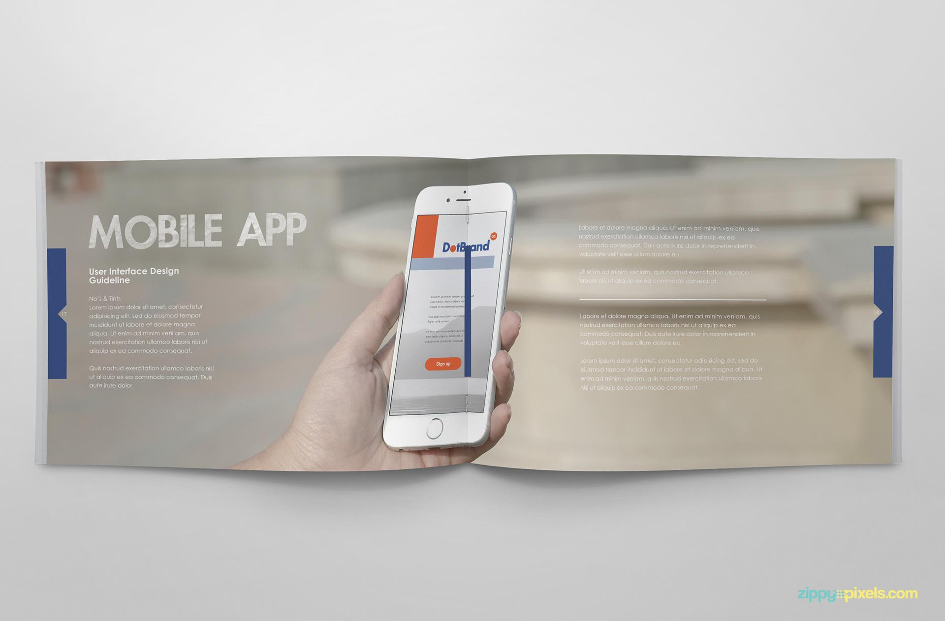Free Brand Guidelines Template - Brandbooks | ZippyPixels
