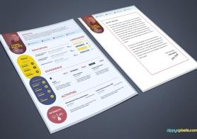 Free Elegant Resume & Cover Letter PSD Template | Premium MS Word Format
