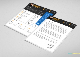 Simple PSD Resume Template for Designers in 3 Colors