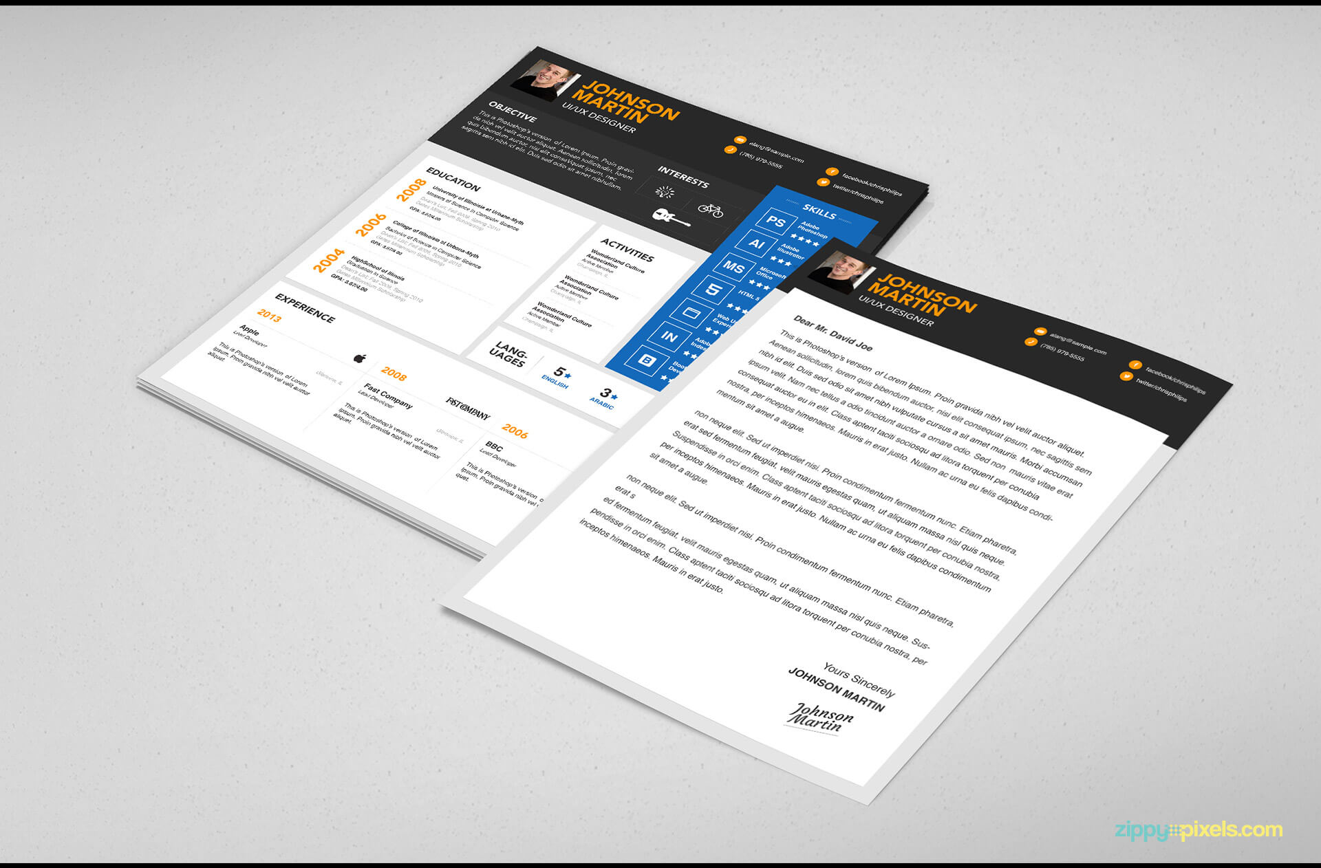 Simple Resume & Cover Letter Template