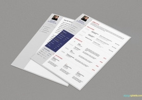 General Resume & Cover Letter Template – 3 Colors set