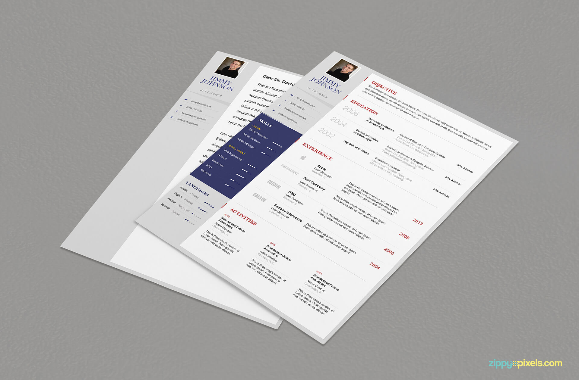Simplistic Resume & Cover Letter Template for Professionals
