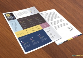 Simple and Colorful Resume & Cover Letter Template Set