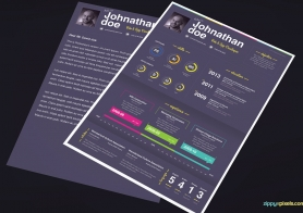 Print Ready Resume Templates with Creative Flare – 3 Color Variations
