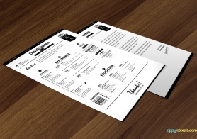 Creative Executives' Resume & Cover Letter Templates in 4 Color versions
