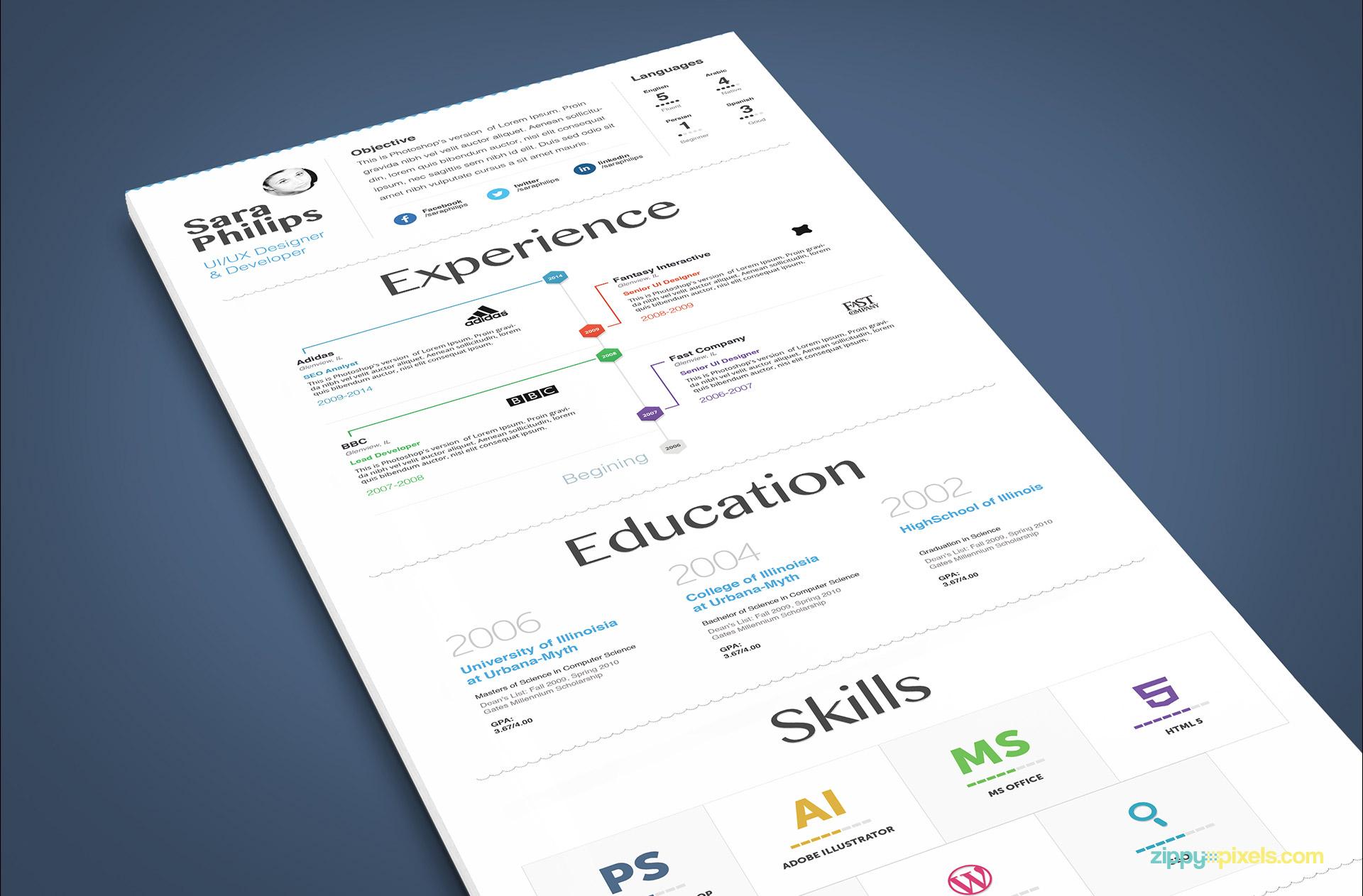 White Minimalistic Resume Template