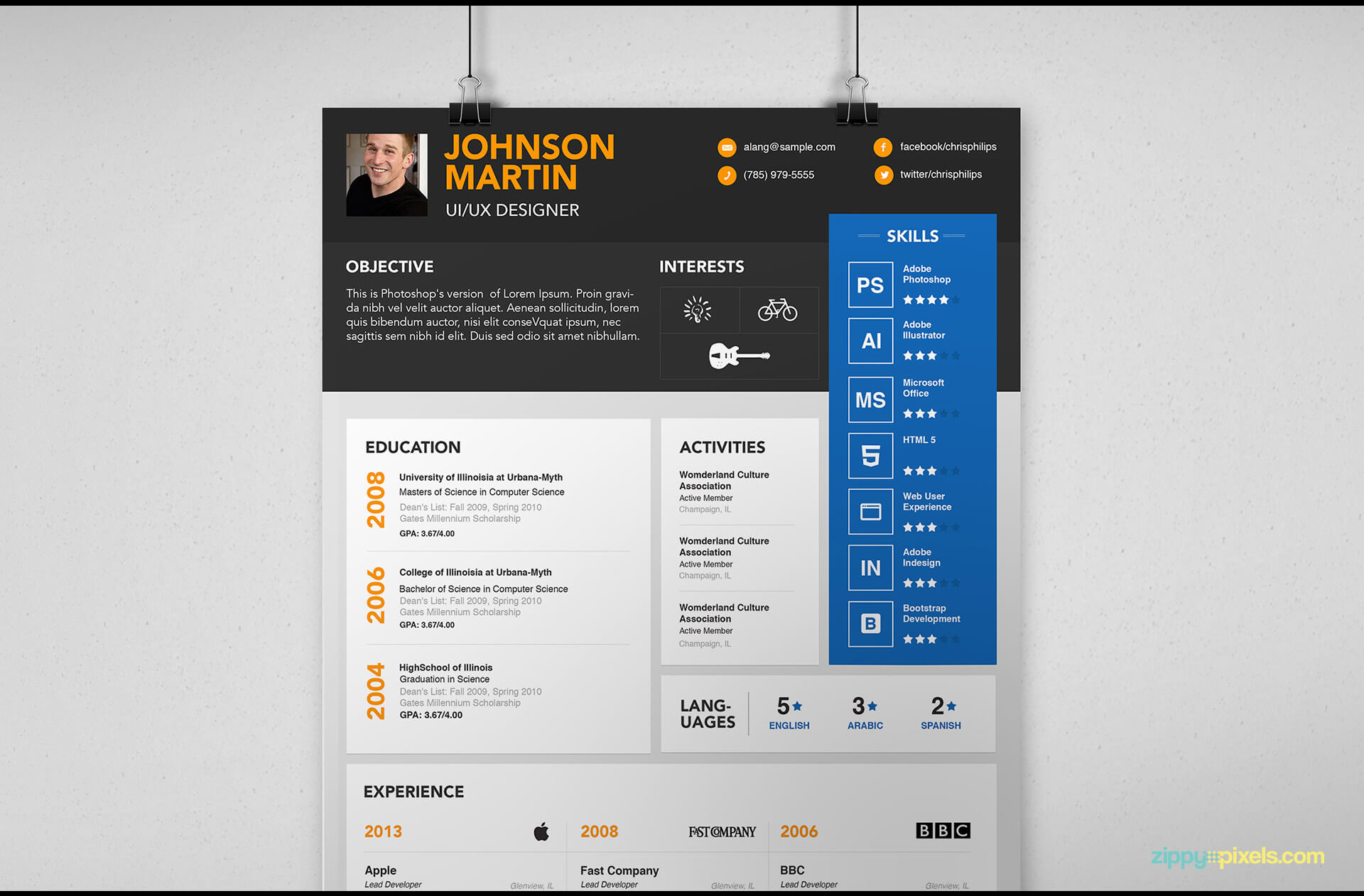 Simple Resume Template version 3