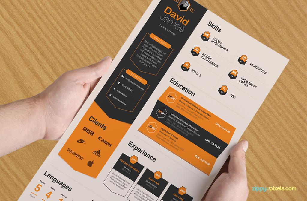 15 resume templates bundle