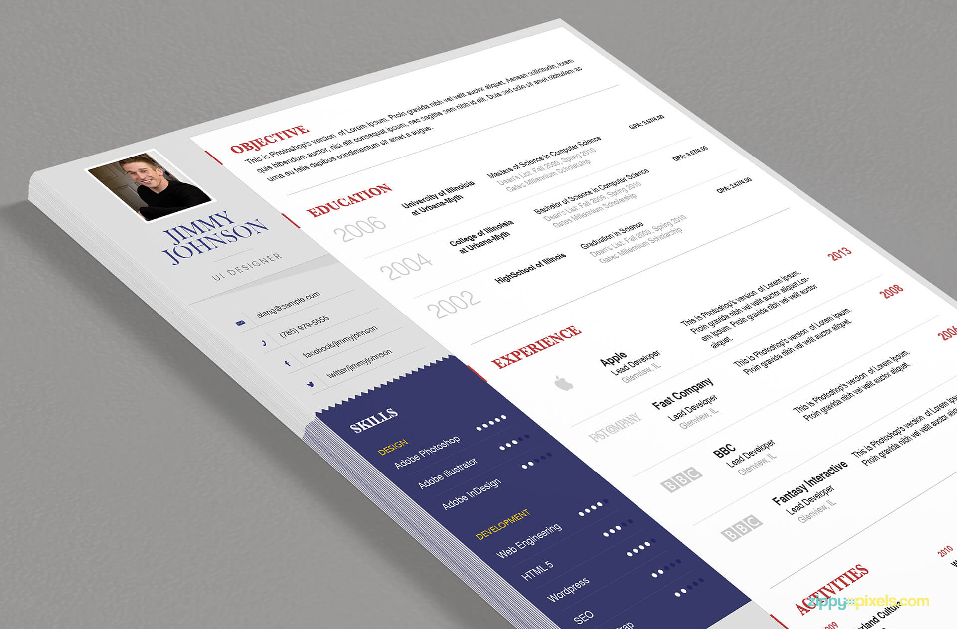 Simplistic Resume Template for Professionals