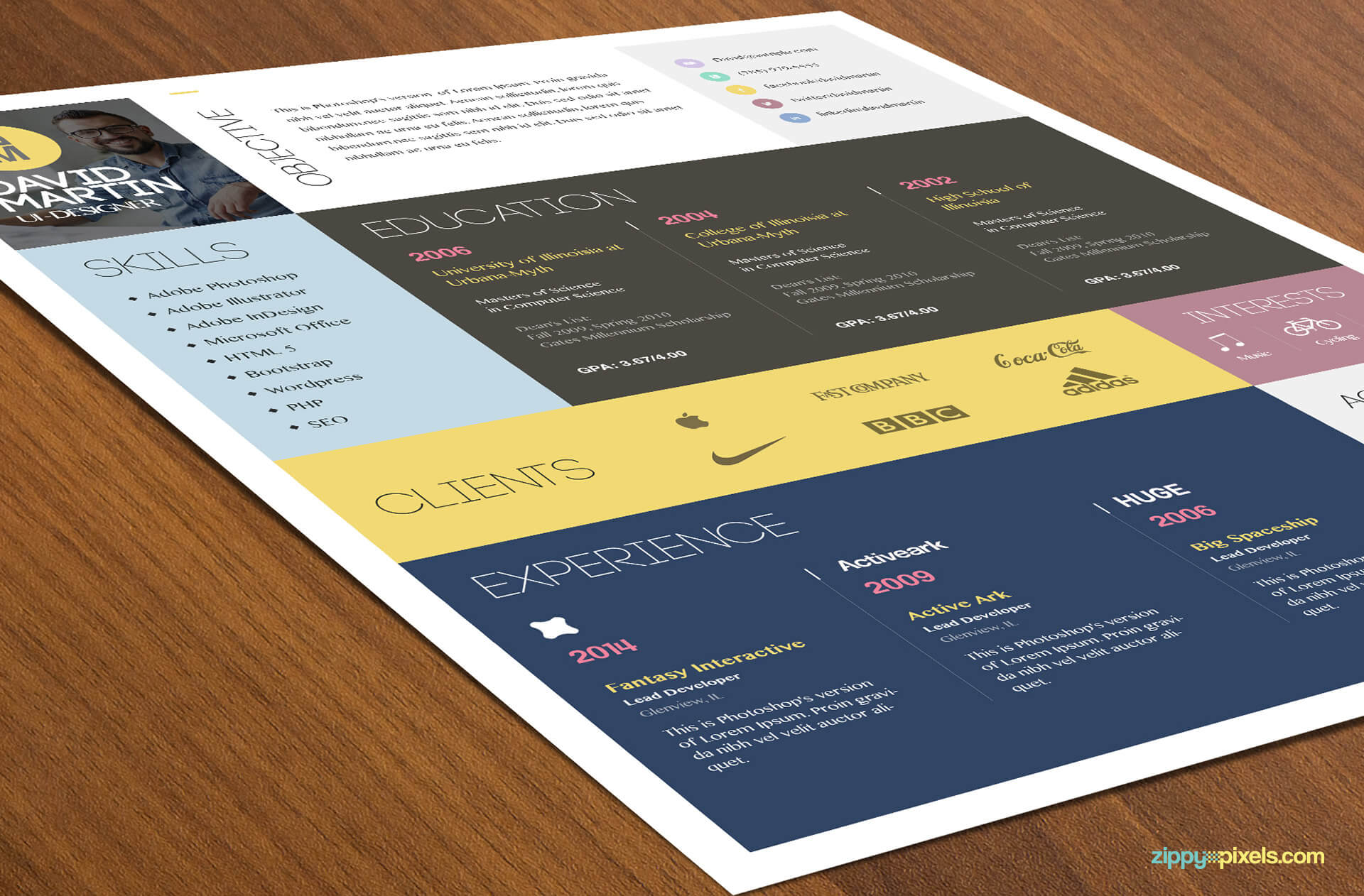 Simple & Colorful Resume Template