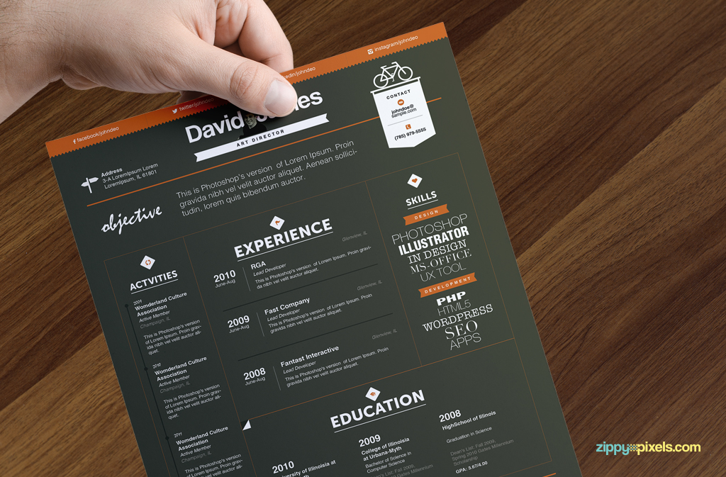 15 Resume Templates Bundle | Zippypixels