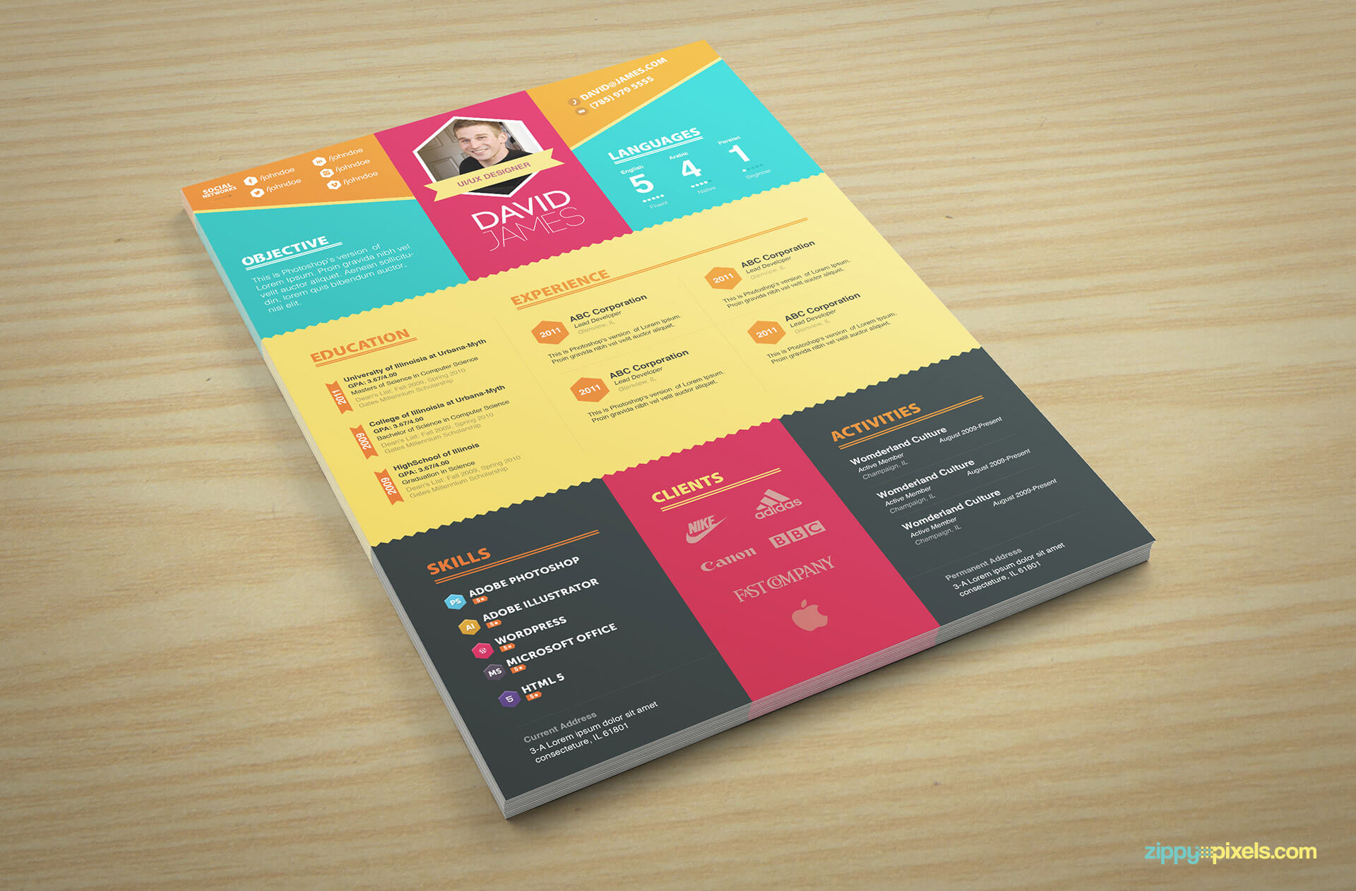 Colorful Creative Resume Template Version 2