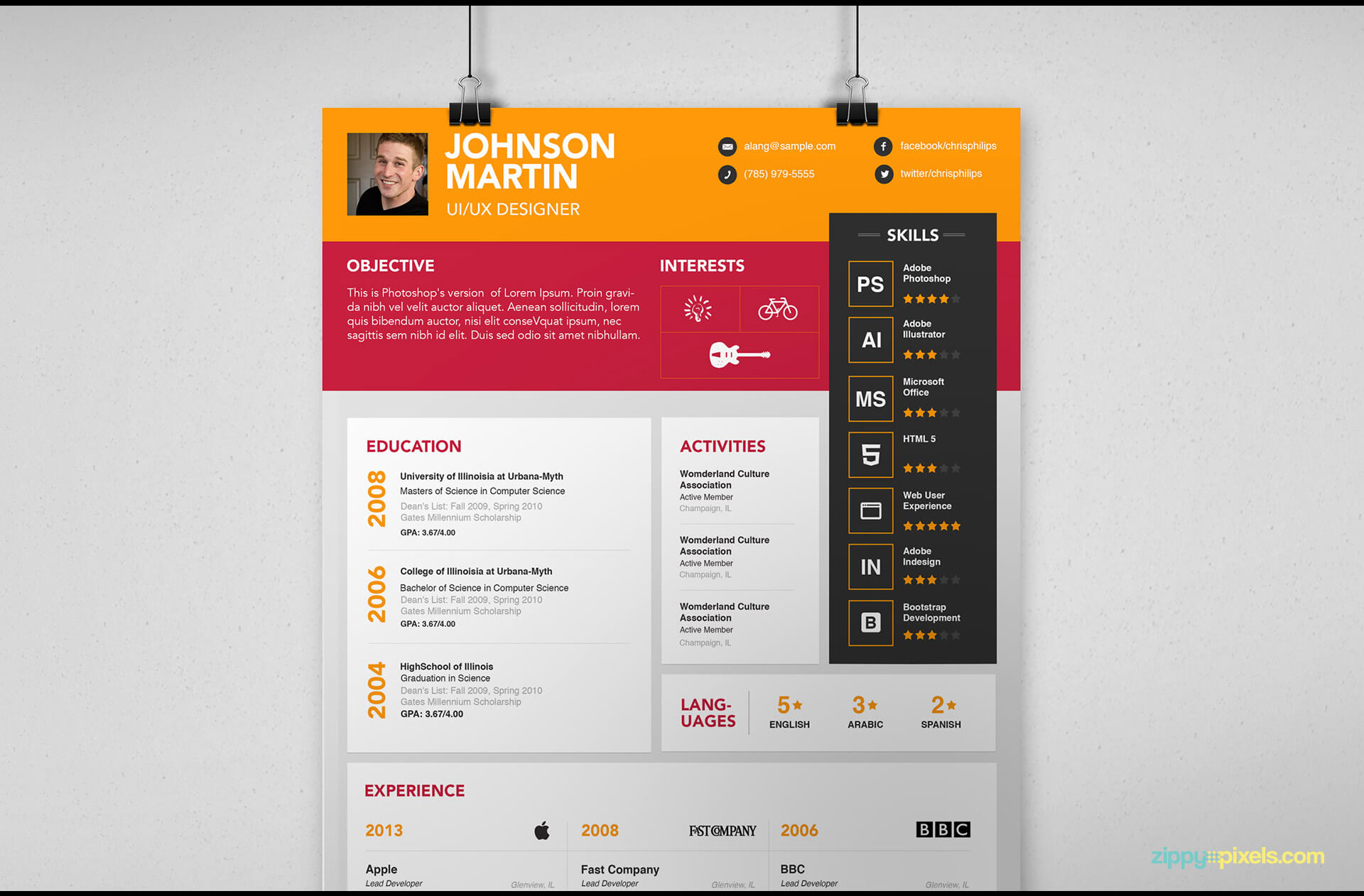Simple Resume Template version 2