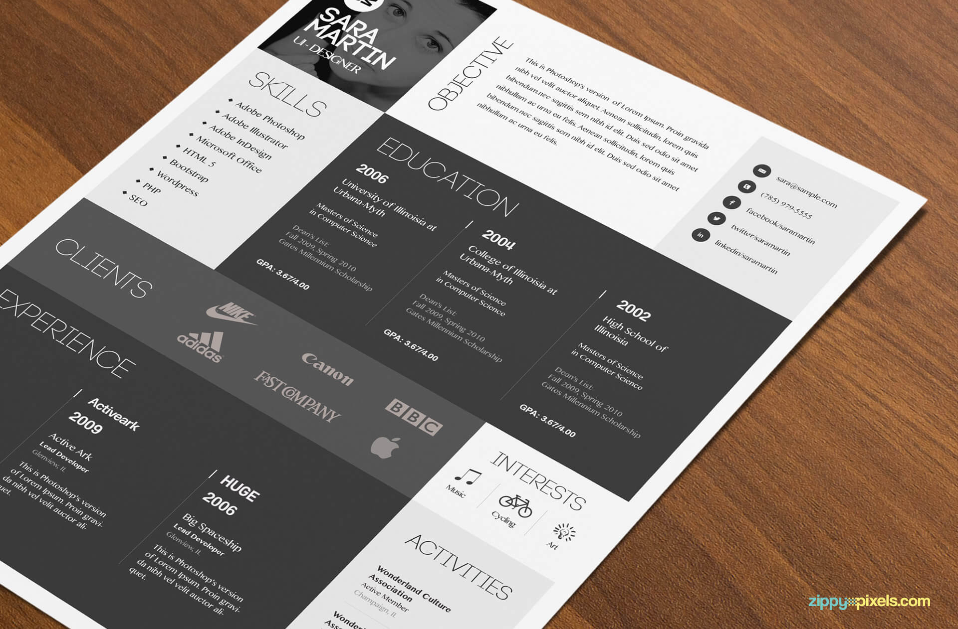 Colorful Resume Template Download