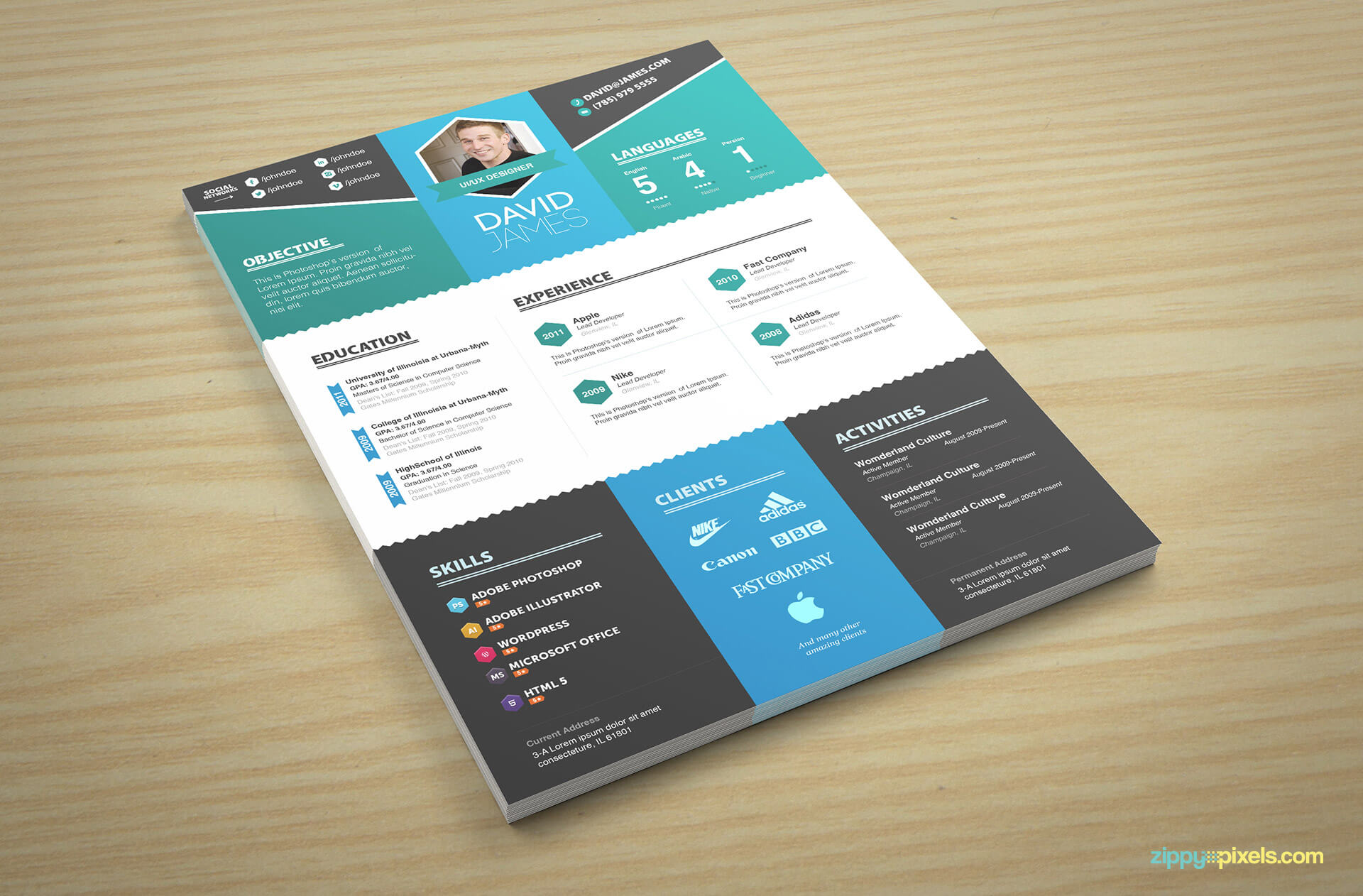 Colorful Creative Resume Template Version 1