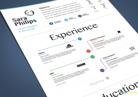 Creative Resume Template with Clean & Minimalistic design – 3 Color Versions