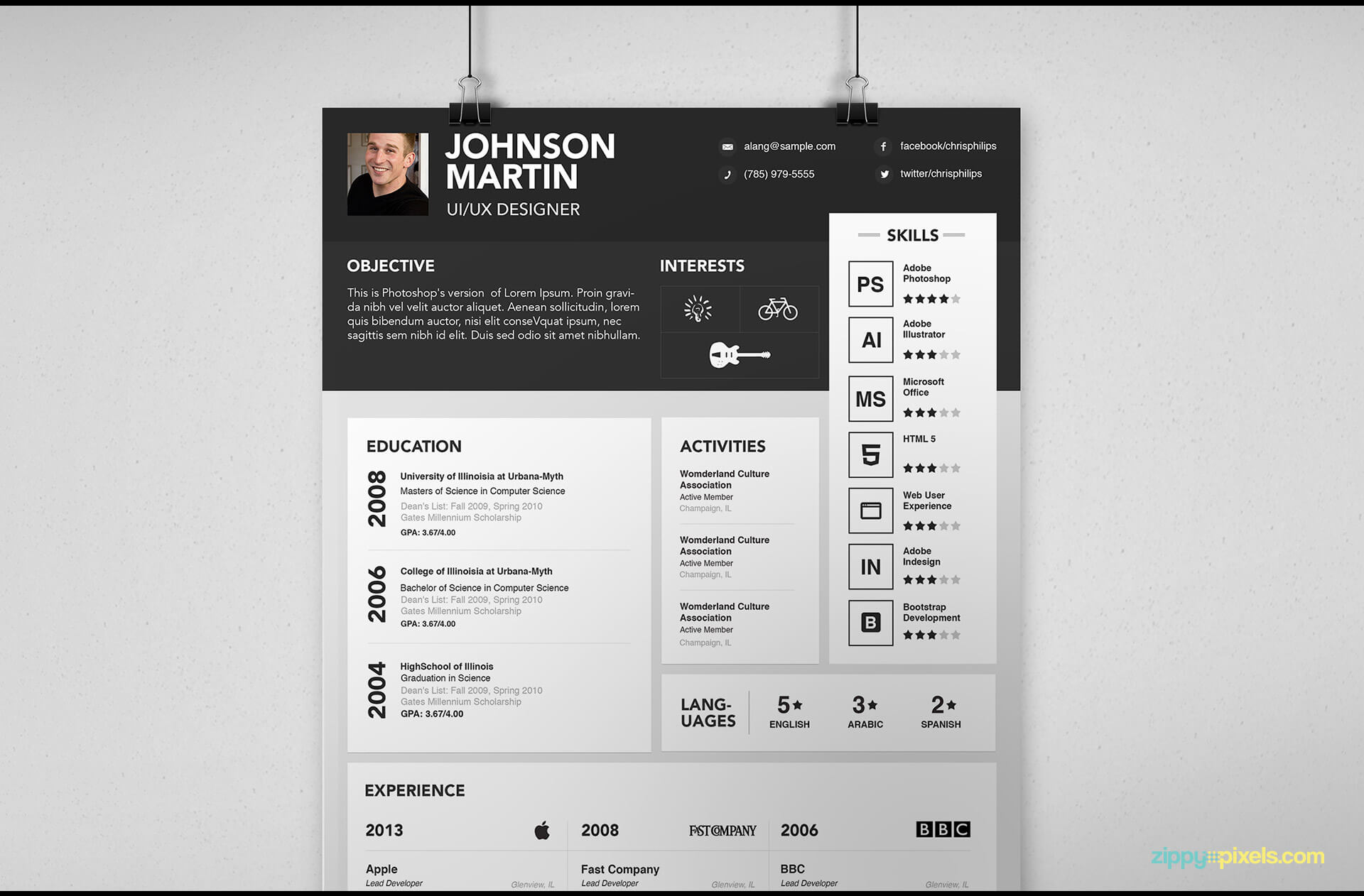 Simple Resume Template version 1