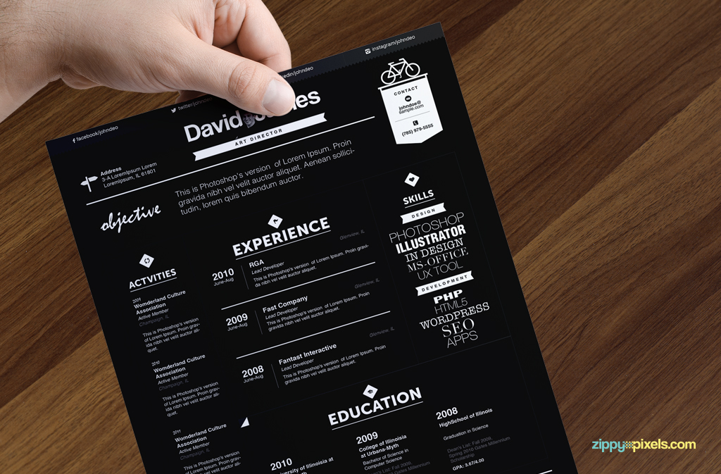 Beautiful Resumes 1000 images about 27 beautiful rsum designs youll want to steal on pinterest beautiful cv design and design It May Be Serious But It Doesnt Mean That This Resume Isnt Beautiful The Killer Use Of Typography Makes This Resume A Great Choice For Creatives Who