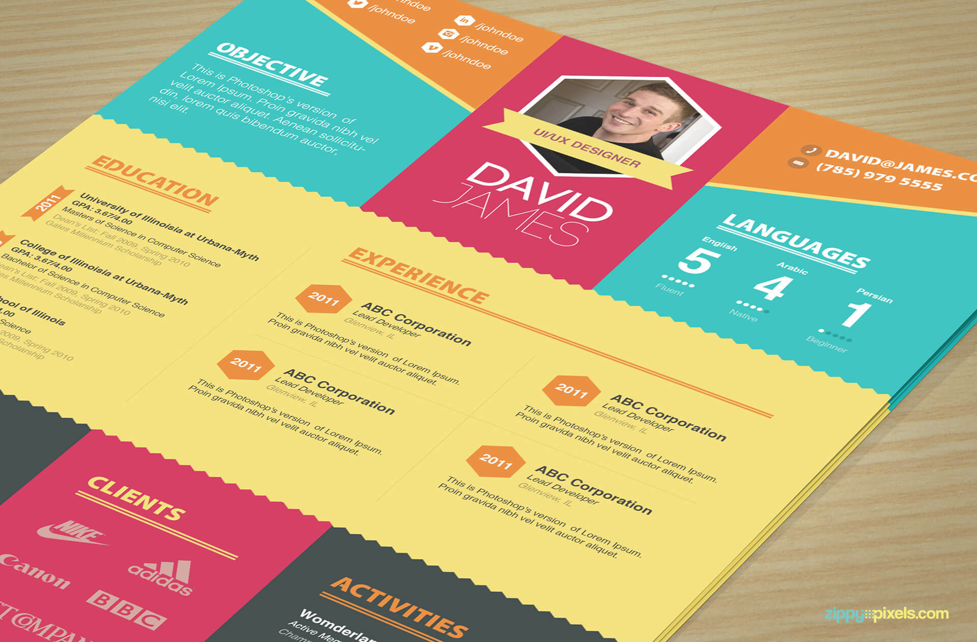 Colorful Creative Resume Template 1