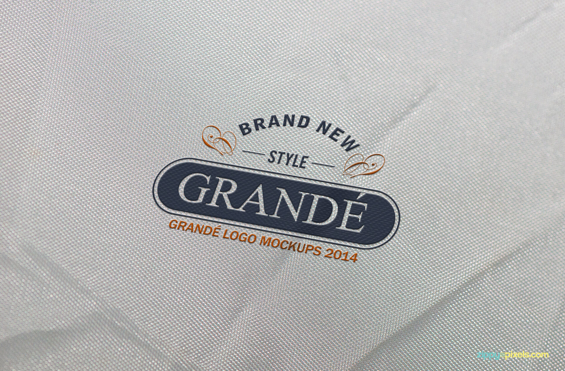 Logo Mockup of Rubber Print on Wrinkled Fabric