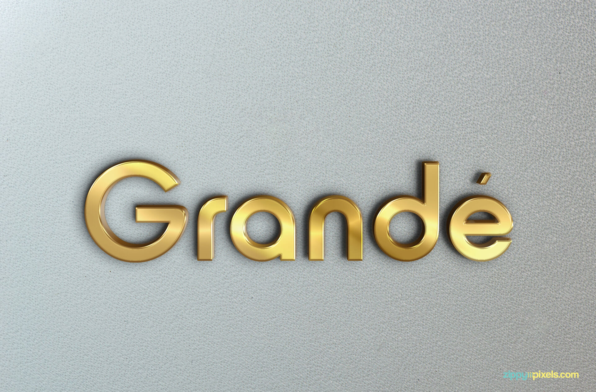 Logo Mockup of 3D Golden Wall Sign