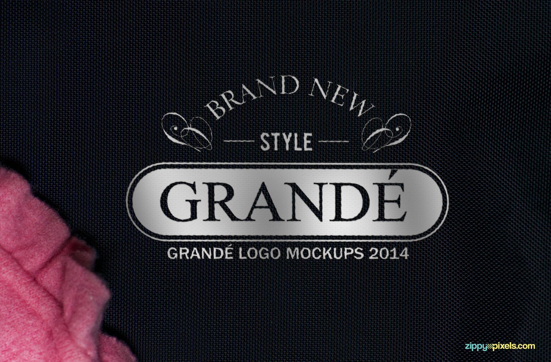 Printed Fabric Logo Mockup