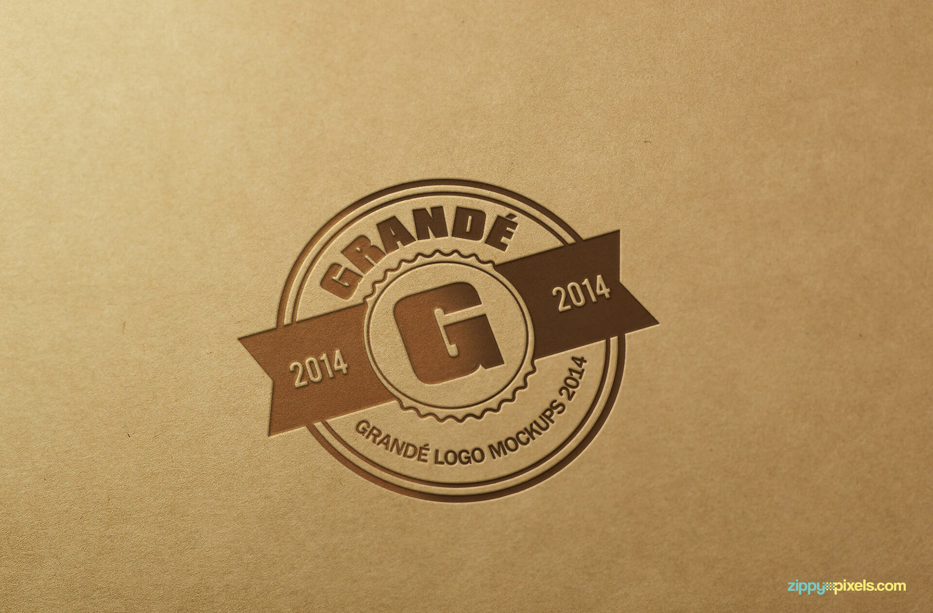 Logo Mockup on LetterPressed Khaki Paper