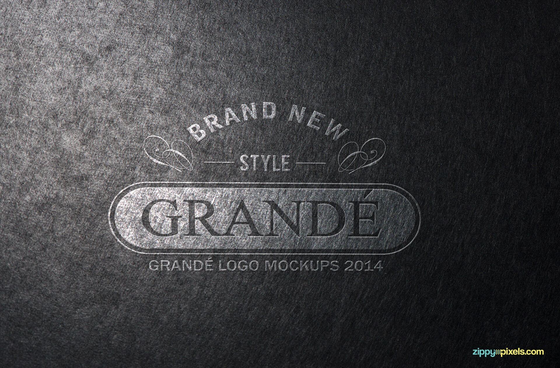 Logo Mockup of Textured Paper Logo