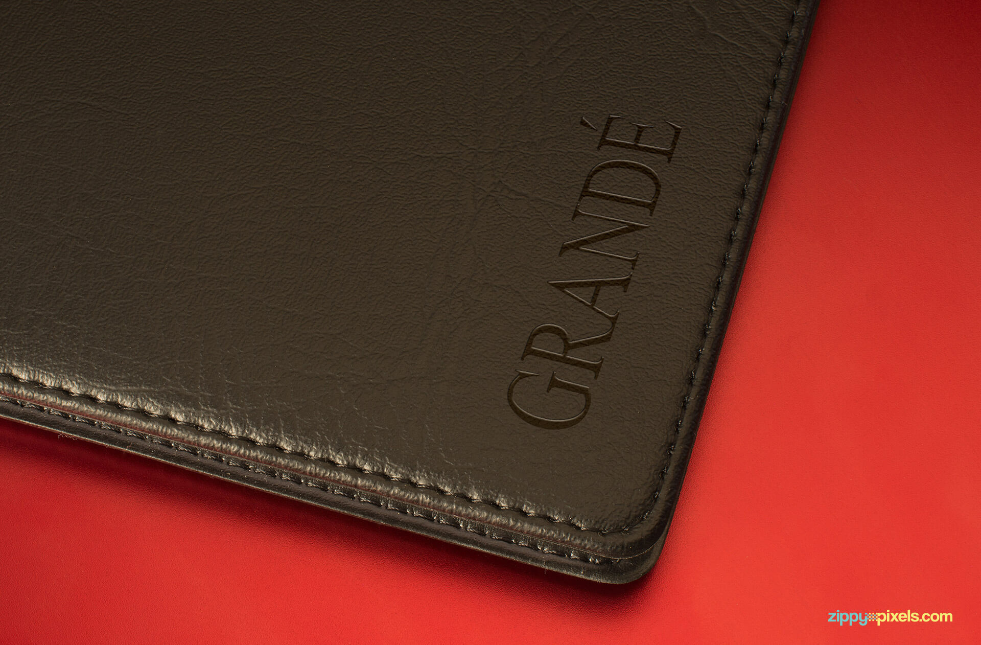 Logo Mockup - Debossed Logo on Leather Diary Cover