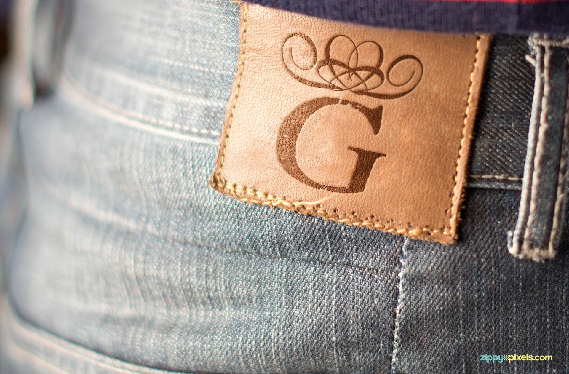Logo mockup - Jeans label