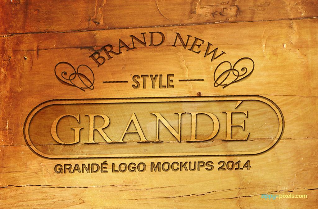 professional woodcraft logo mockups