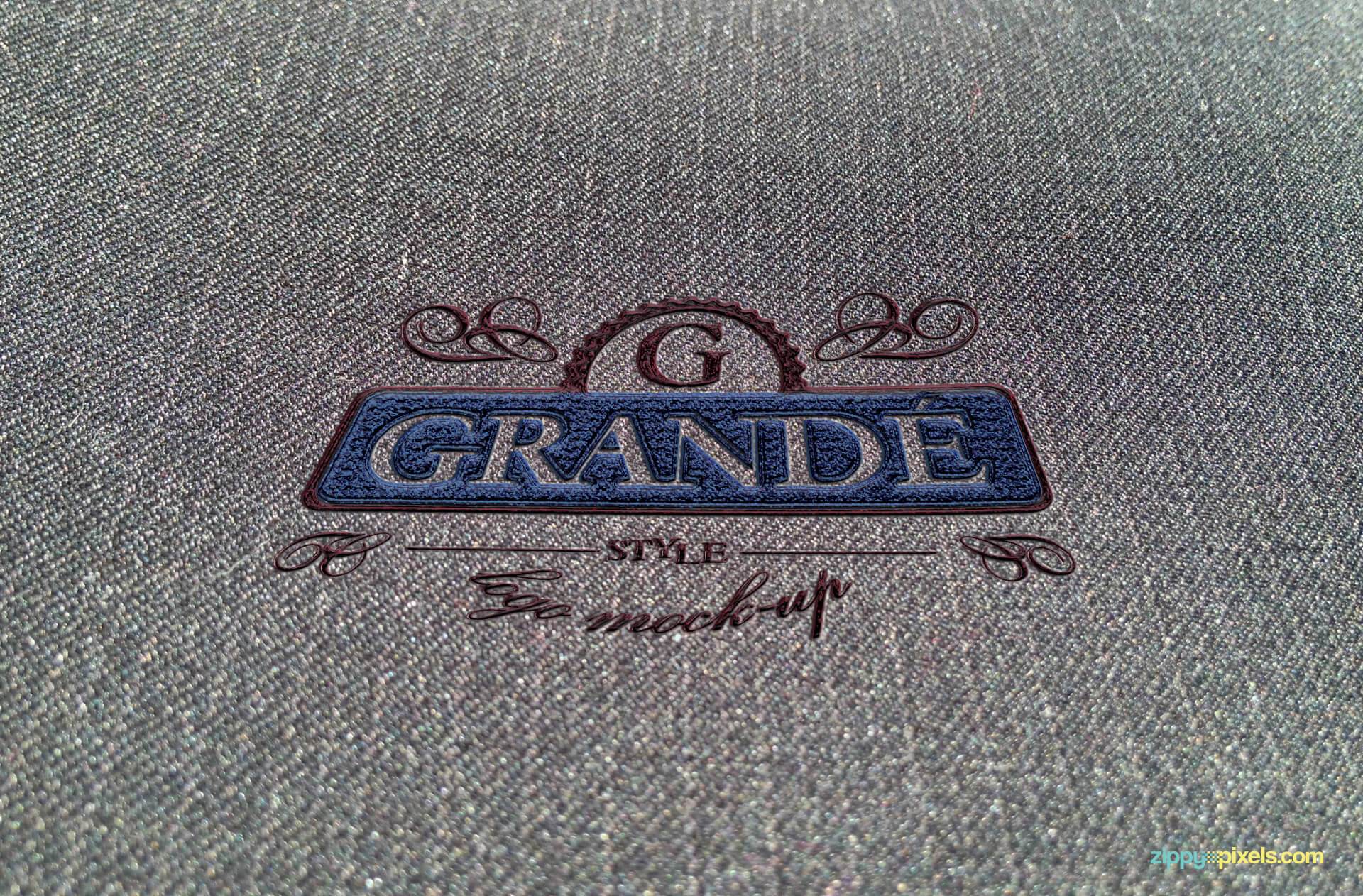 Logo Mockup of Embroidered Soft Fabric