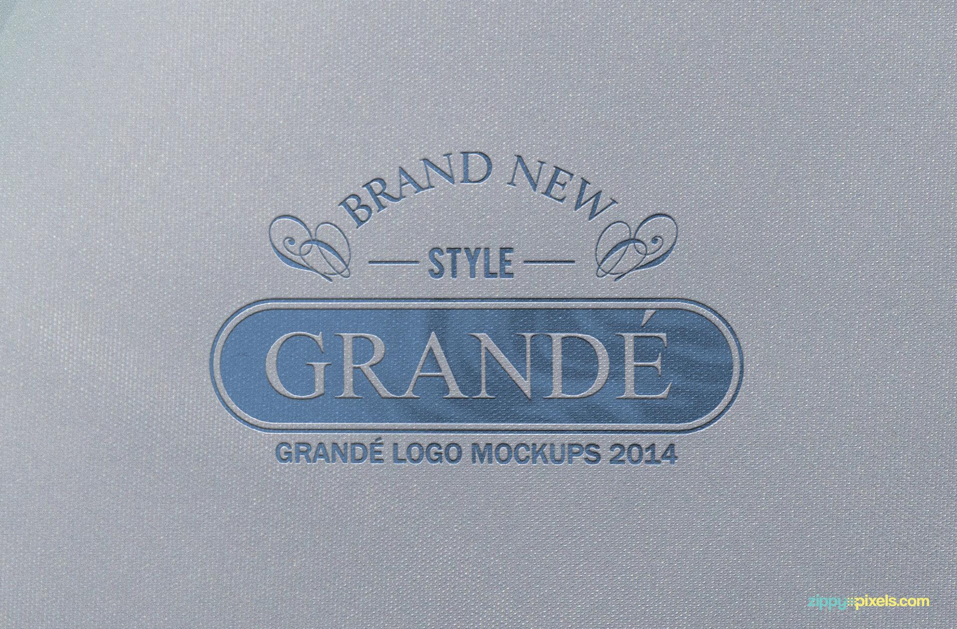Textured Letterpressed Paper Logo Mockup