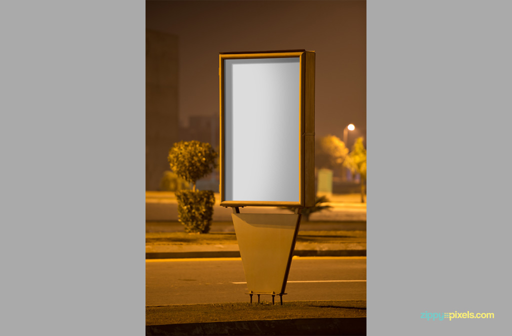 Free Outdoor Roadside Poster Mockup 04