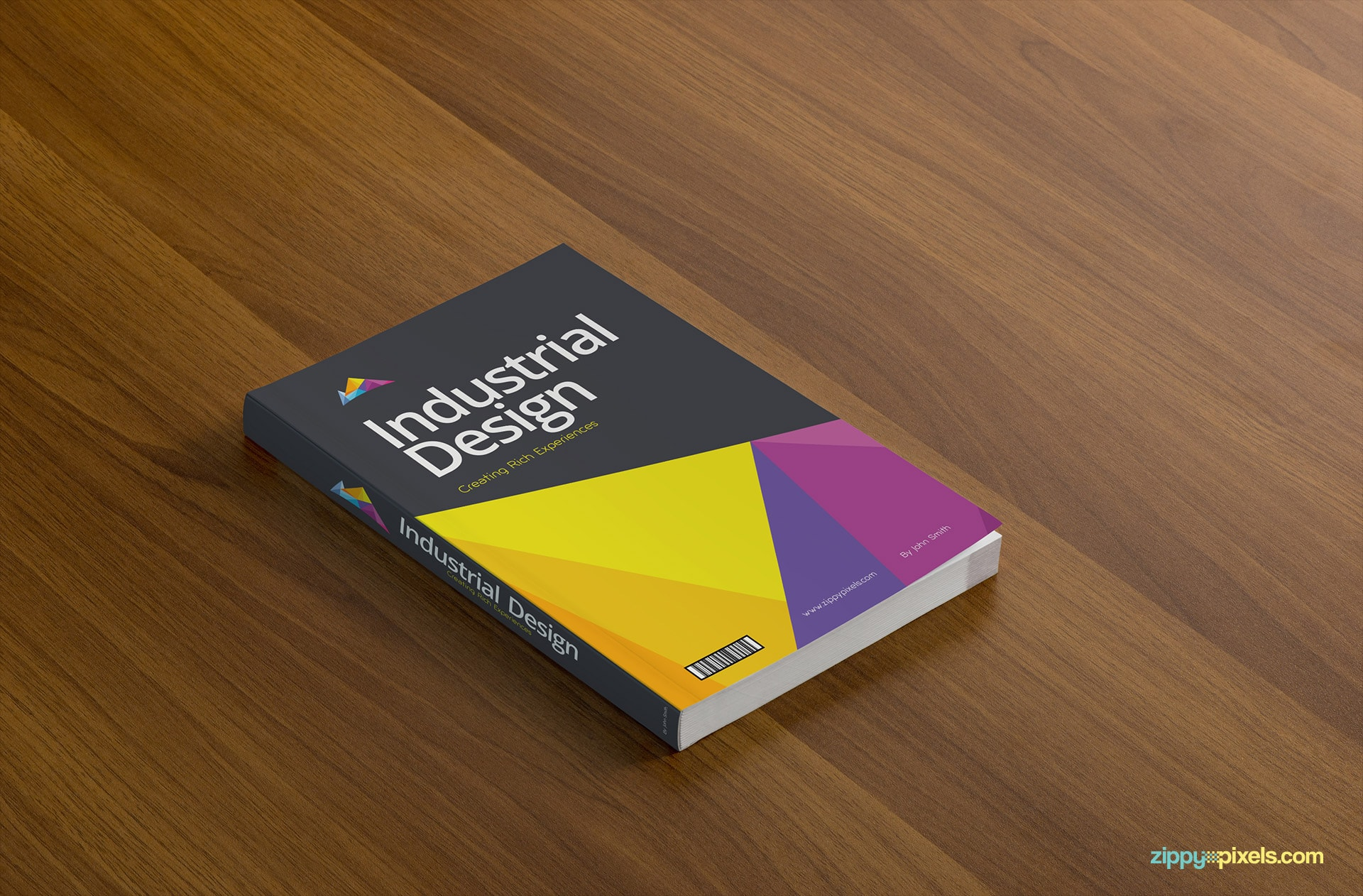 Book Cover Mockup on Table