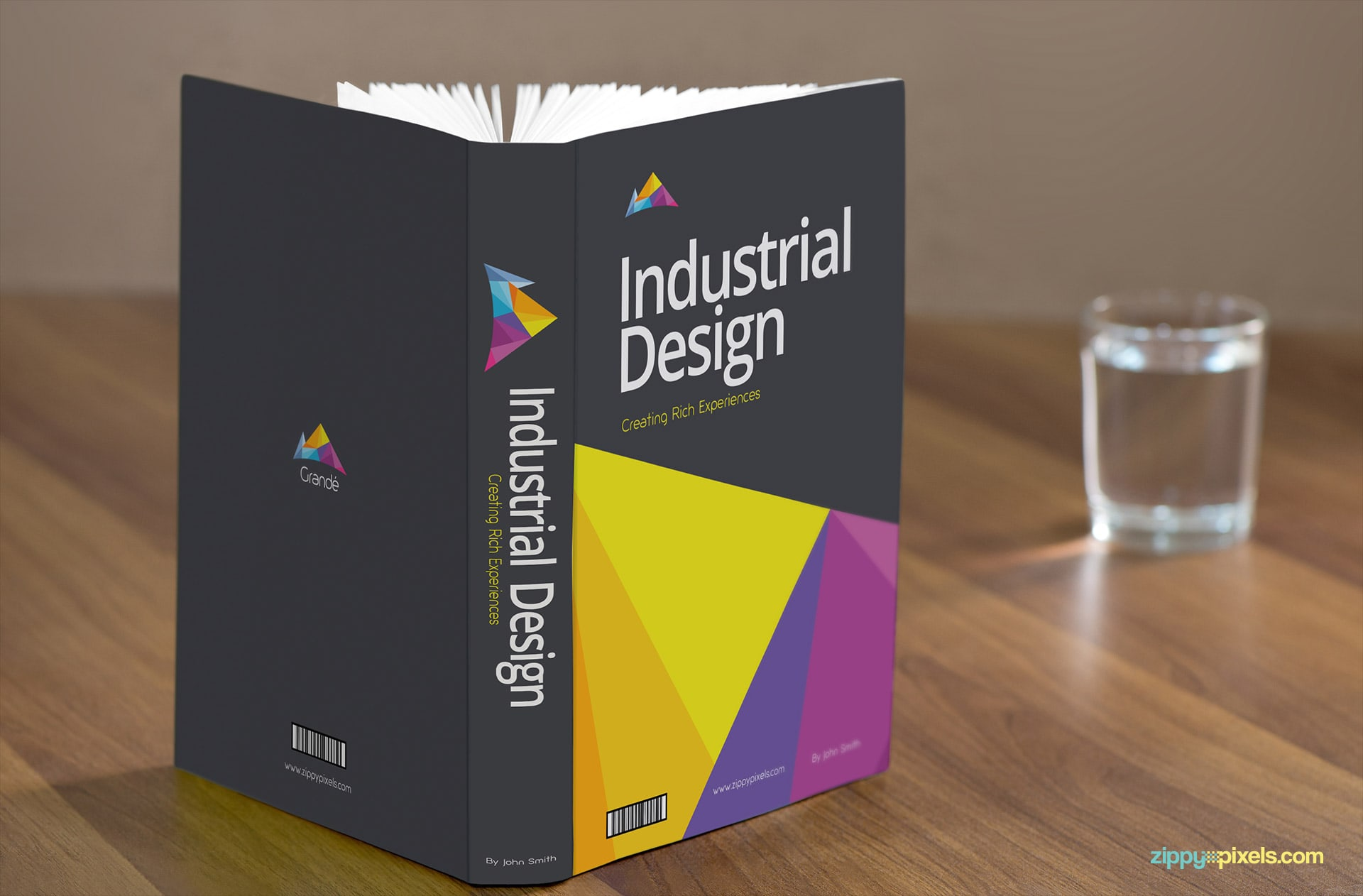 Book Mockup showing Hardcover Book
