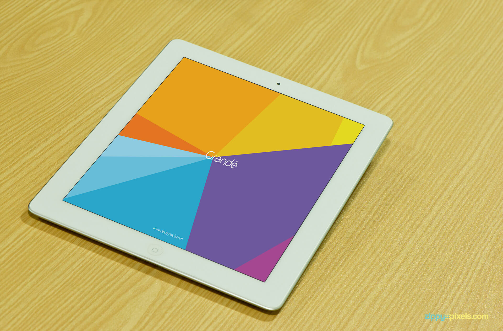 iPad Mockup shows an iPad on Table