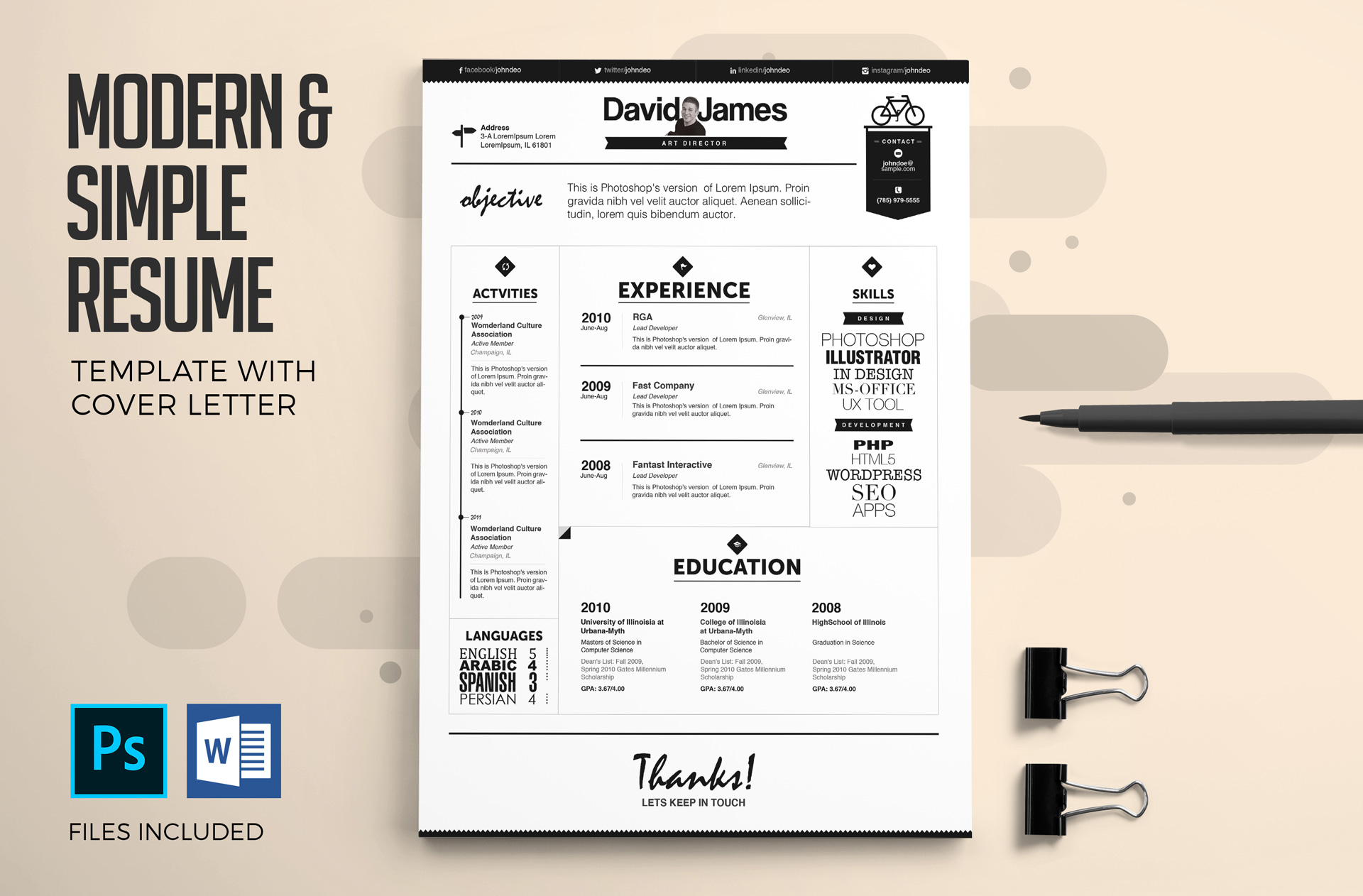 4-in-1 Executive Resume & Cover Letter Templates | Creative ... on flyer templates, print brochure templates, crime scene markers templates, black shopping bag templates, photography website templates, fancy title templates, page layout templates, simple memory mates templates, household notebook templates, 1 page brochure templates, label templates, pdf templates, create your own ticket templates, logo templates, photography portfolio templates, text templates, website header templates, internet auto sales templates, photography branding templates, newsletter templates,