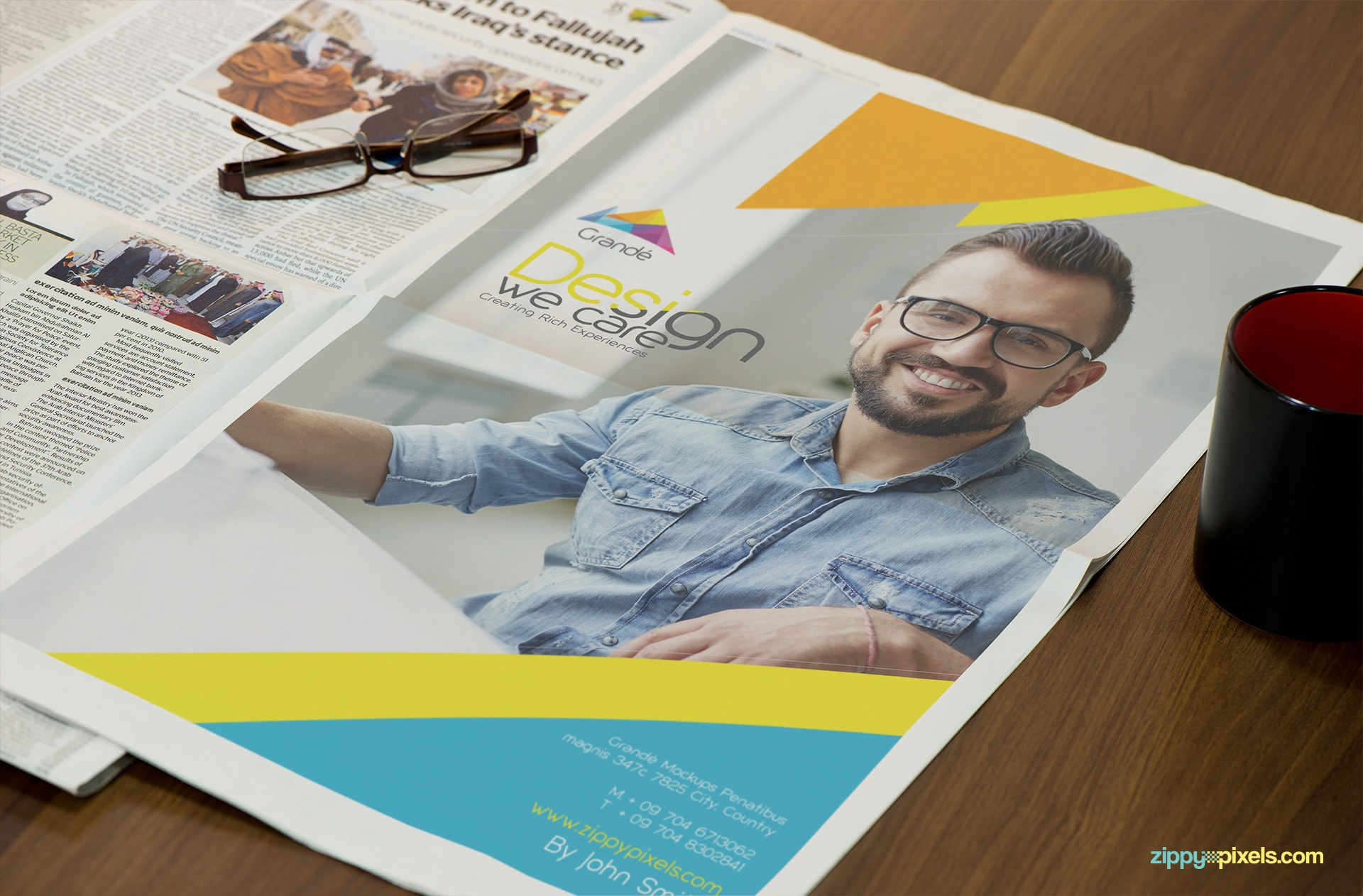 13 HD Newspaper PSD Mockups for Advertising | ZippyPixels