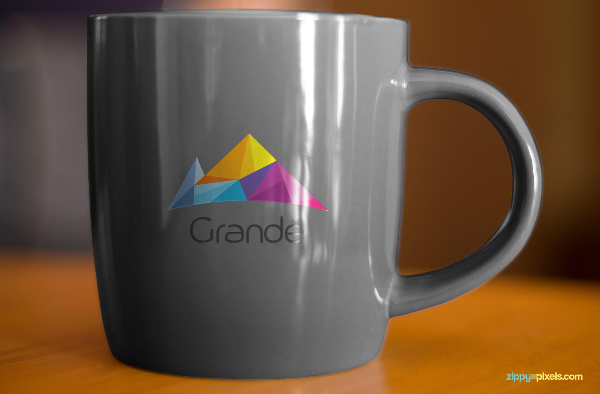 Branding Mockup for Coffee Mug with Logo