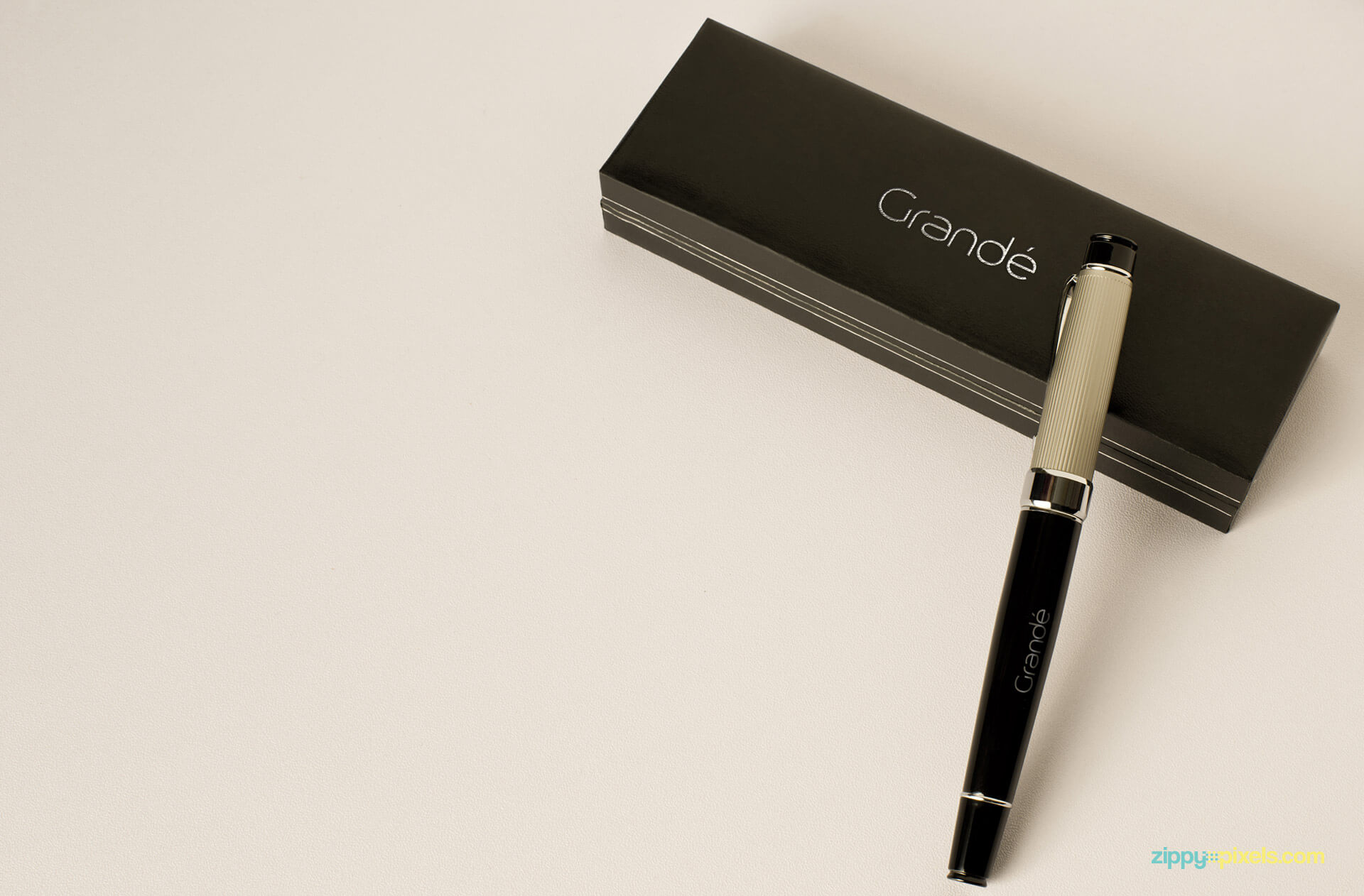 Corporate Identity Mockup of an Executive Pen with Branded Pen Box