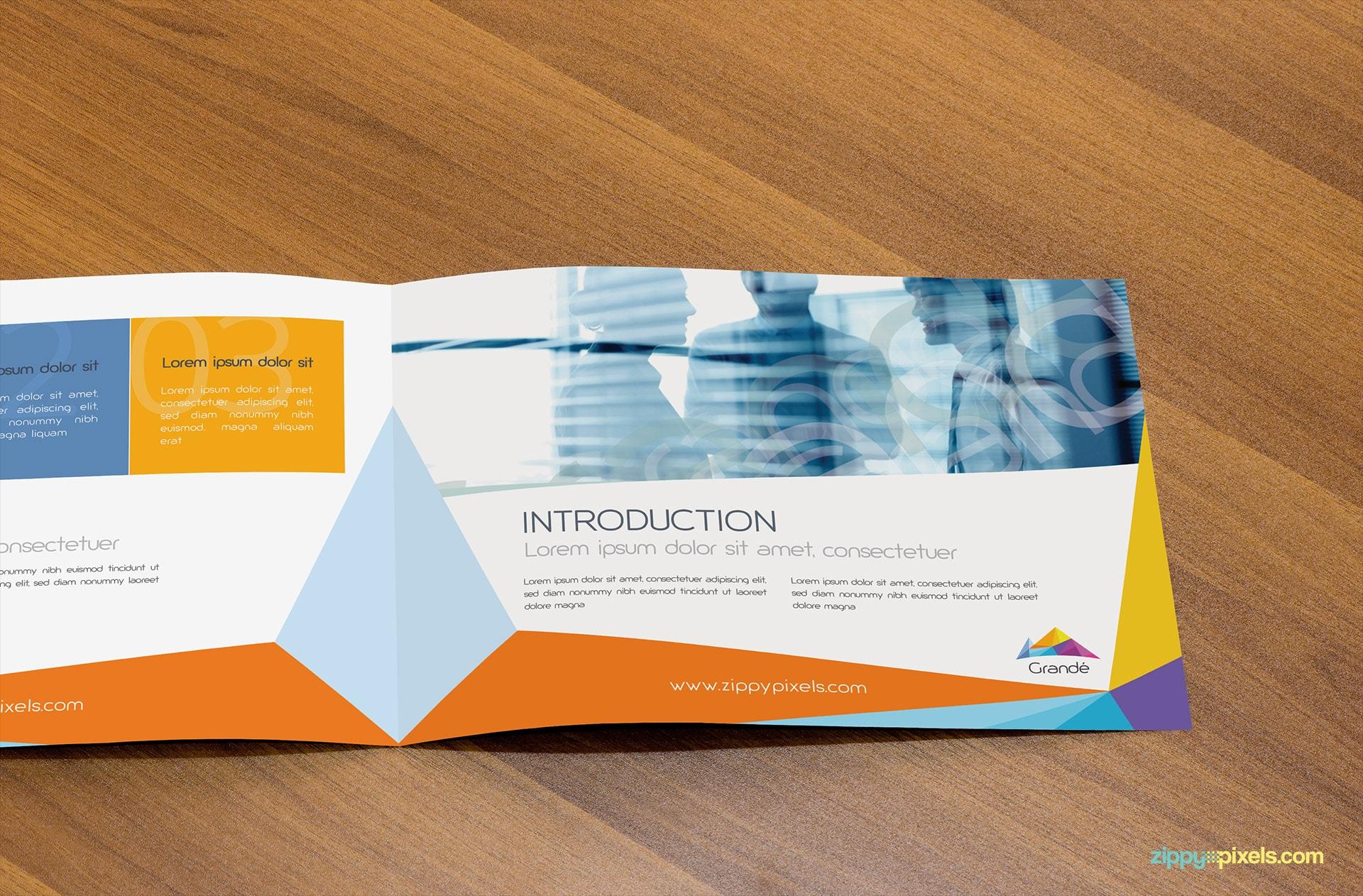 Opened Brochure Mockup