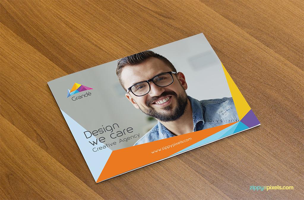 photorealistic brochure mockups set of 6 psds