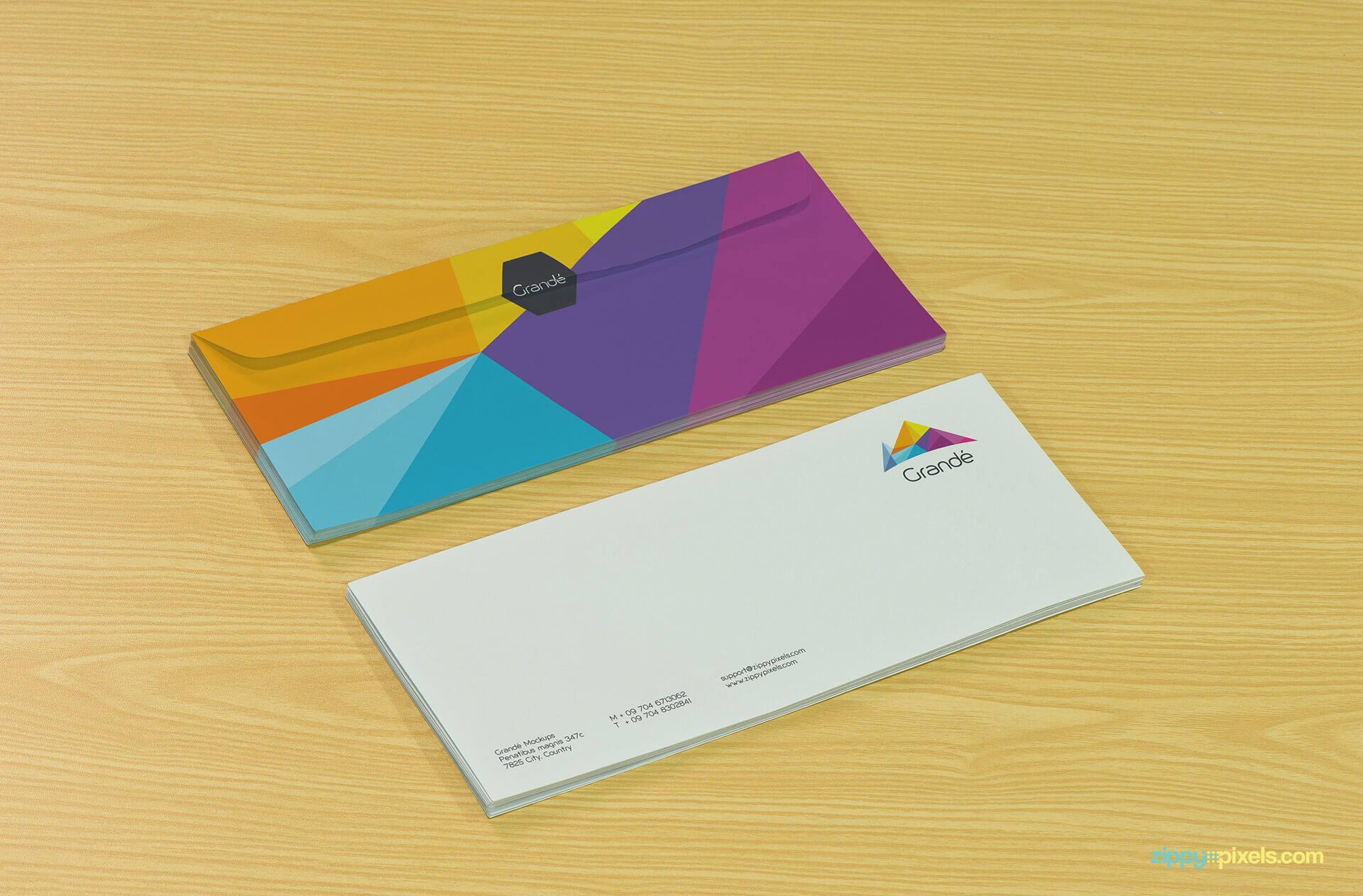 Branding Mockup of Two Envelopes